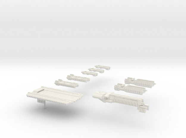 Fleet Scale Series 1: The entire Terran fleet in White Natural Versatile Plastic