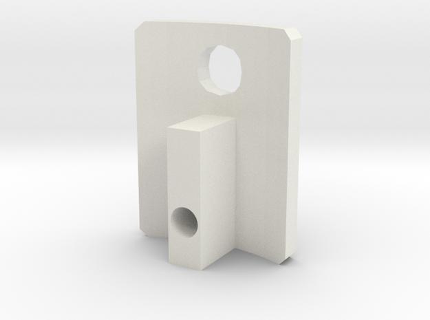 Slider in White Natural Versatile Plastic