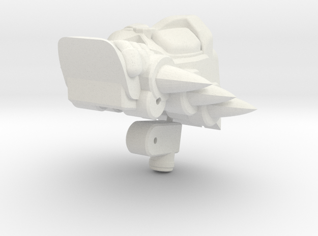 Rampage head for animated shockwave in White Natural Versatile Plastic