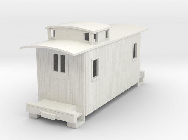 TTn3 caboose in White Natural Versatile Plastic