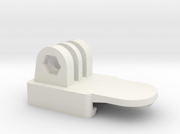 Nerf GoPro Adaptor in White Natural Versatile Plastic