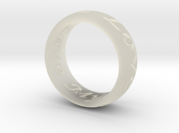 Custom Ring Inscription in Transparent Acrylic