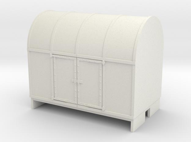 OO9 Gunpowder Van  in White Natural Versatile Plastic