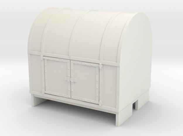 OO9 Gunpowder van (small) in White Natural Versatile Plastic
