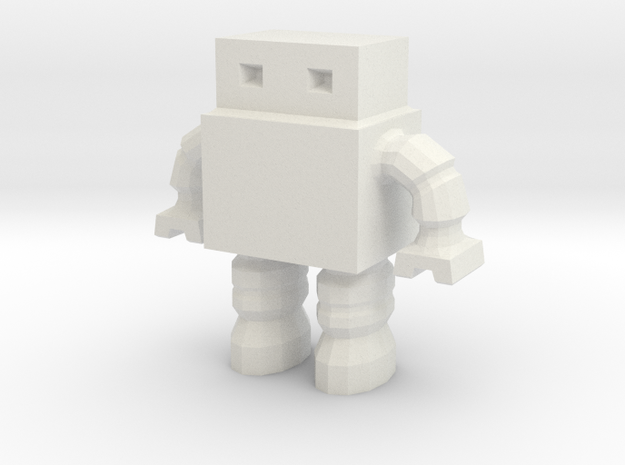 Billowed Arm Robot 0010 in White Natural Versatile Plastic