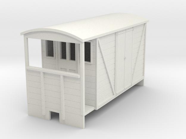 OO9 Brake van (long) with planked door 3d printed