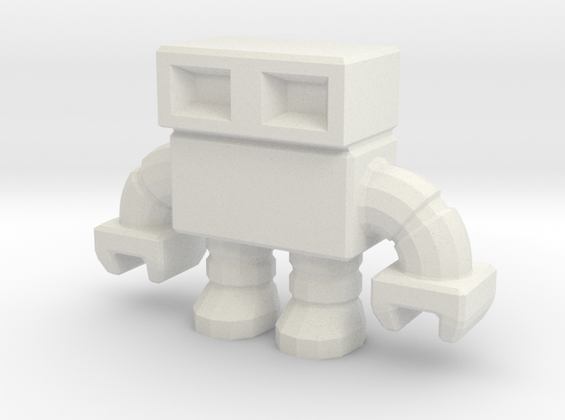 robot 0013 mini - 1.5 inch in White Natural Versatile Plastic