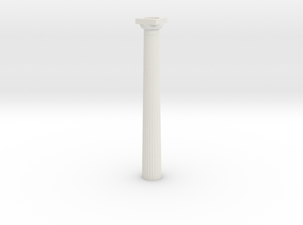 3cm Doric Column - hollow core - Hollow plinth and 3d printed