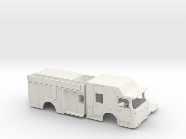 RESCUE-PUMPER PRINT in White Natural Versatile Plastic