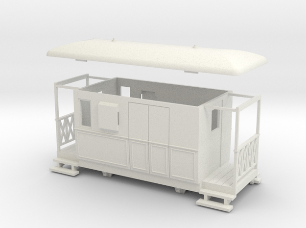 OO9 4w Tramway brake coach 3d printed