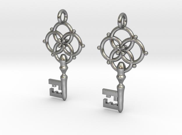 Old Key Earrings 3d printed