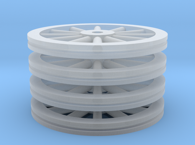 Large Spoked Wheel Set - Z scale in Smooth Fine Detail Plastic