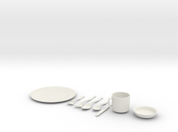 1/4 scale Tableware Settings 3d printed