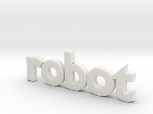 Robot 0002 in White Natural Versatile Plastic