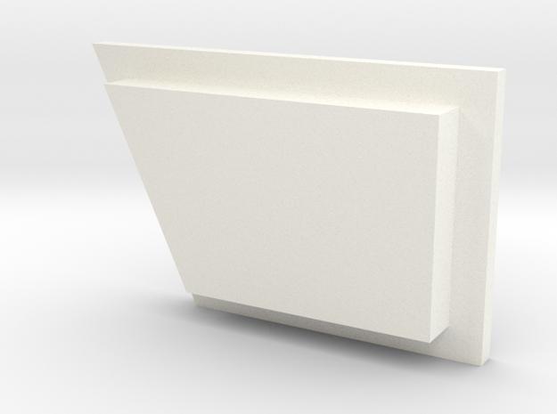 Babylon 5 Communicator Button 1 in White Processed Versatile Plastic