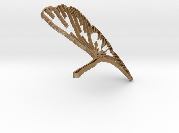 Ginkgo Earring in Matte Gold Steel