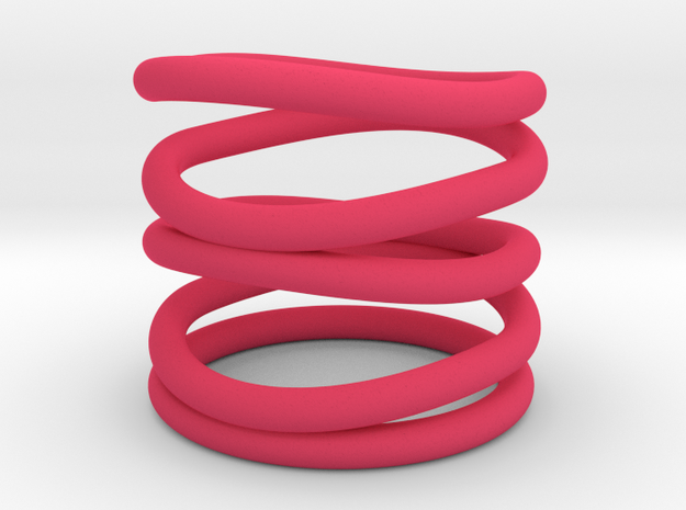 Curlicue spiral ring 3d printed