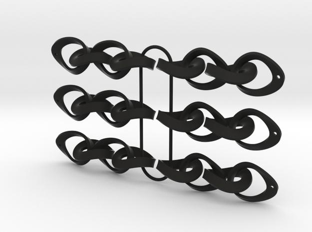Mobius Strip Earrings 3 x pairs 3d printed