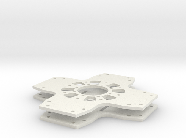 Innerbreed IX4 Quadcopter Body Plates in White Natural Versatile Plastic