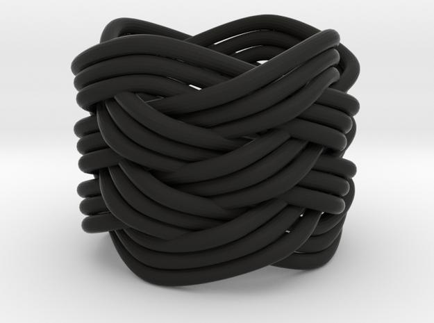 Turk's Head Knot Ring 6 Part X 4 Bight - Size 0 3d printed