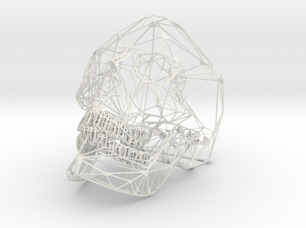 Hedricskull in White Natural Versatile Plastic