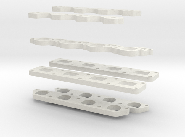 Flanges in White Natural Versatile Plastic