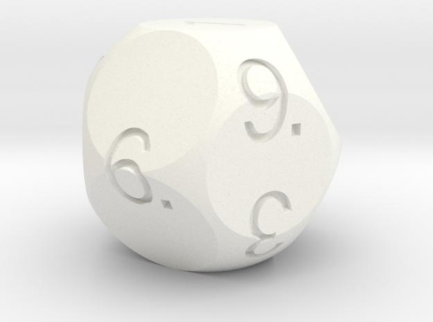 D11 Sphere Dice 3d printed In Alumide.