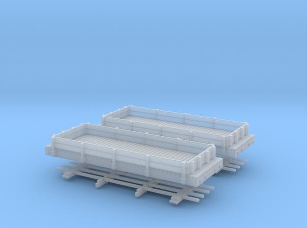 HOn30 20ft low side gondola x2 3d printed