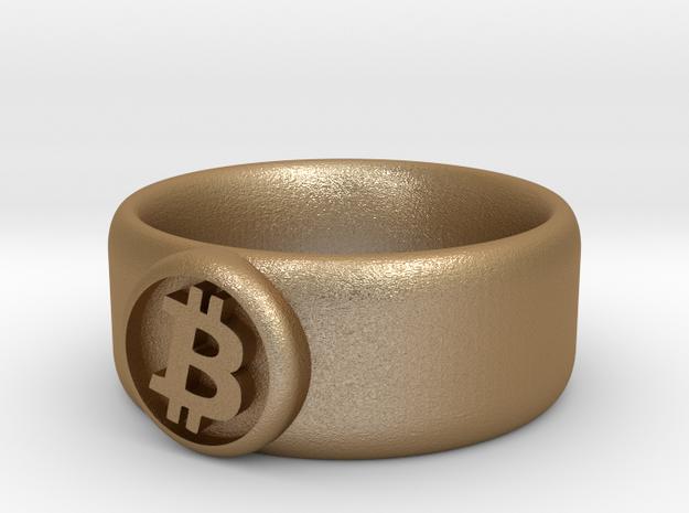 Bitcoin Ring (BTC) - Size 8.0 (U.S. 18.14mm dia) 3d printed