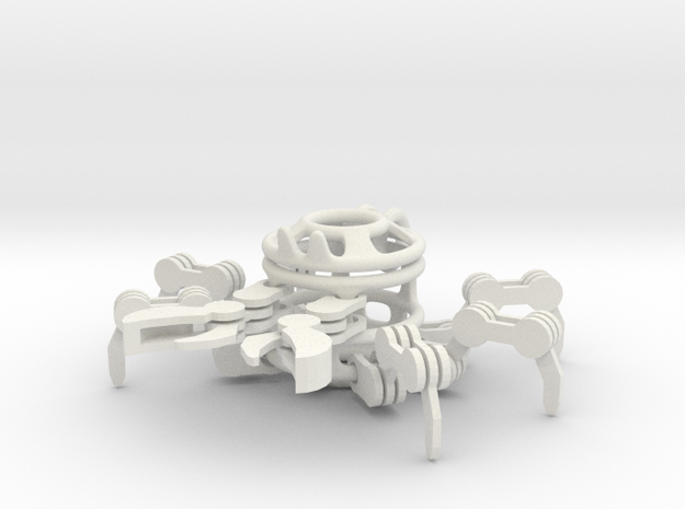 Crab in White Natural Versatile Plastic