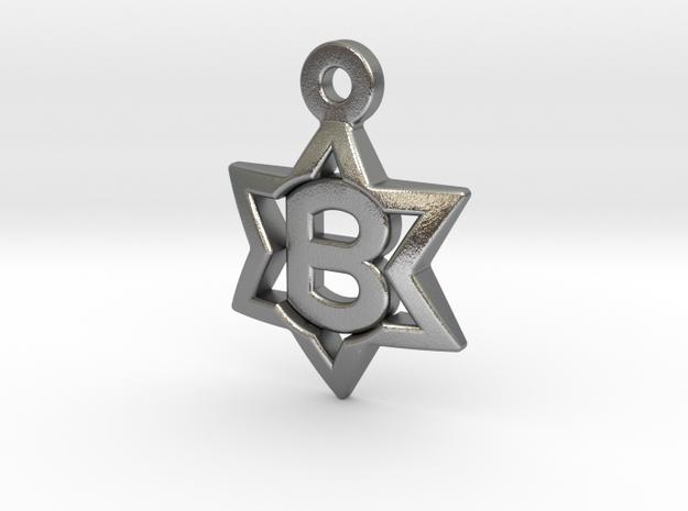Jewish Star Pendant - B 3d printed