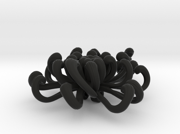 chrysanthemum   brooch 3d printed