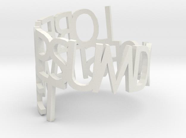 Lorem Ipsum ring in White Strong & Flexible
