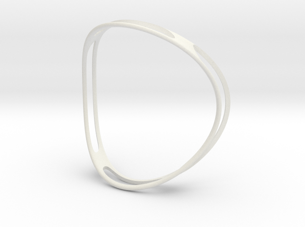 Curved ring in White Natural Versatile Plastic