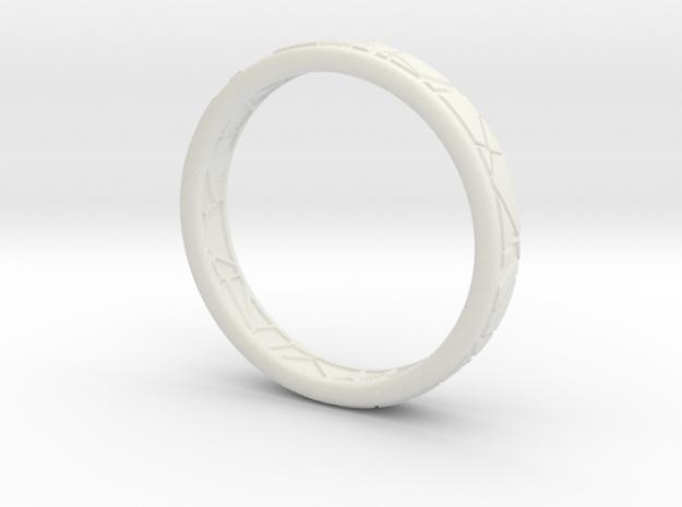 Broken ring in White Natural Versatile Plastic