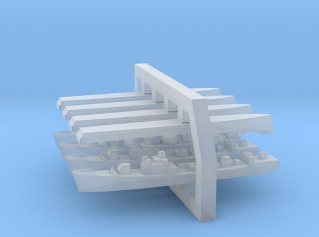 60SS02 1:6000 Mirka+Petya Soviet FFL (4 +4 models) in Smooth Fine Detail Plastic