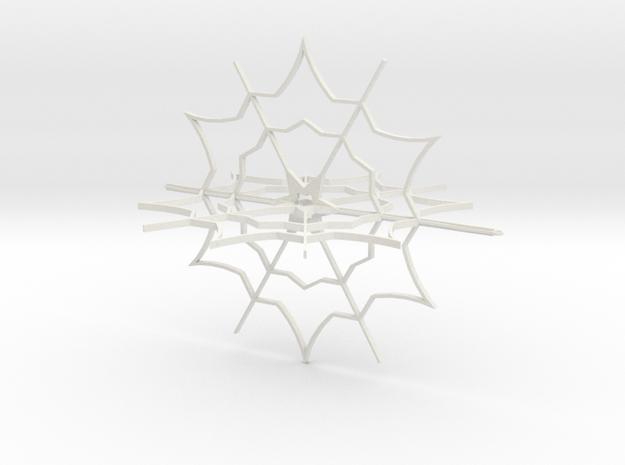Snow Flake Ornament in White Natural Versatile Plastic