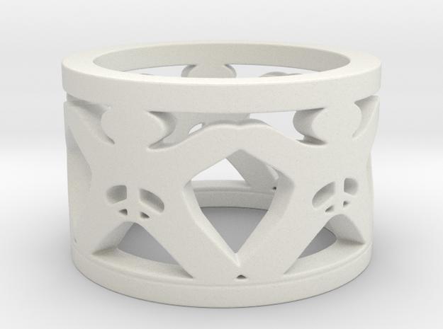 Intactivist Ring Size 6 in White Natural Versatile Plastic