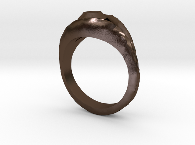 Ring with mock diamond 3d printed