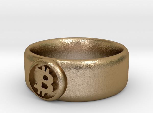 Bitcoin Ring (BTC) - Size 10.0 (U.S. 19.76mm dia) 3d printed