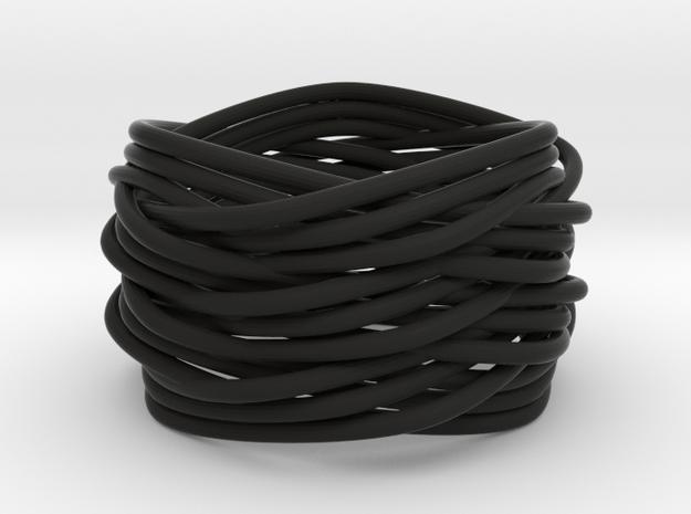Turk's Head Knot Ring 6 Part X 3 Bight - Size 7.5 3d printed