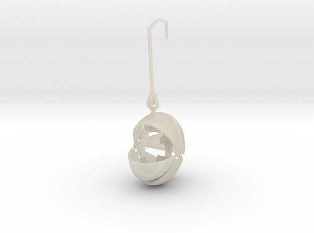 armadillo  earring stone keeper 3d printed