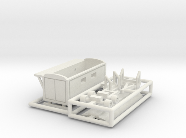 Toilettenwagen 2 - 1:220 (z scale) in White Strong & Flexible