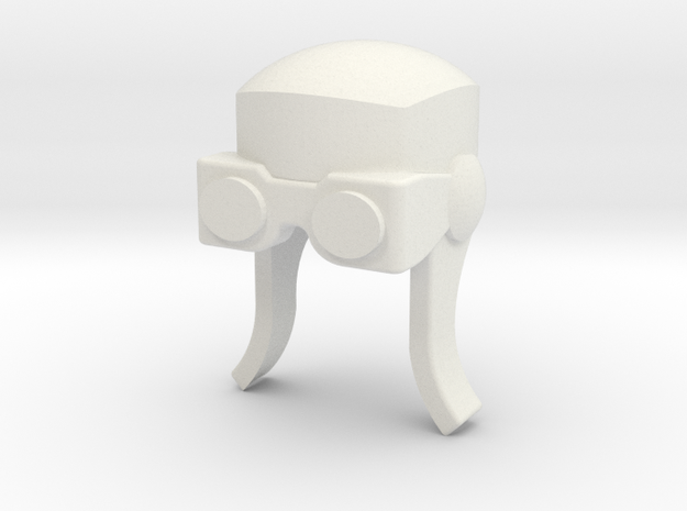Aviator Helmet for ModiBot in White Strong & Flexible