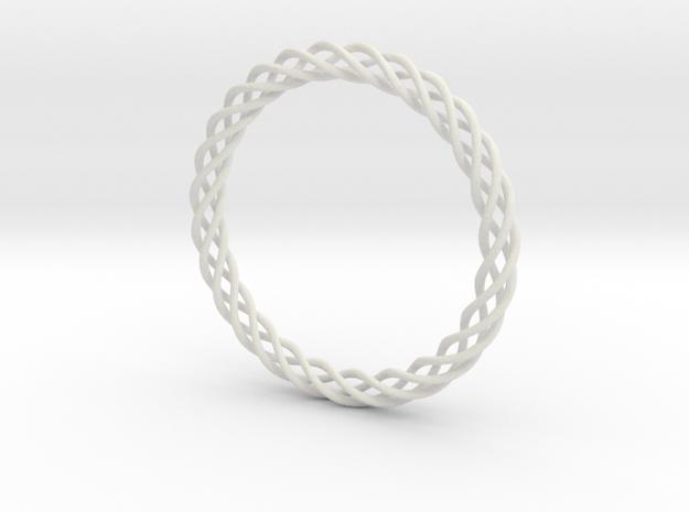 Braiding bracelet in White Natural Versatile Plastic