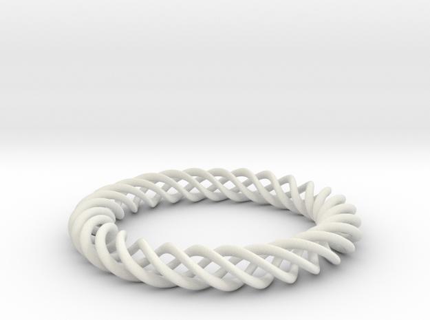 Braiding ring in White Natural Versatile Plastic
