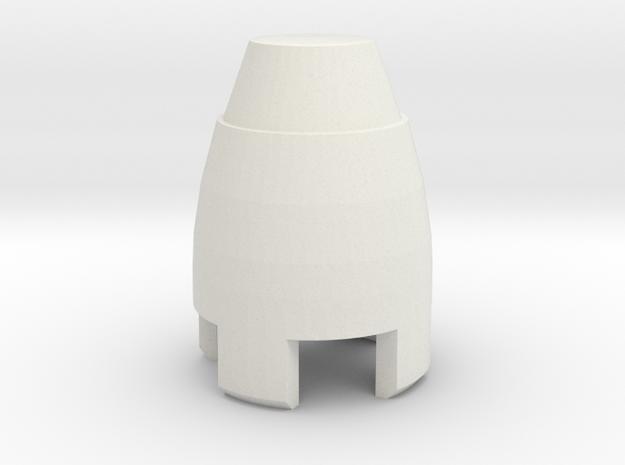 aztec sonic cap in White Natural Versatile Plastic