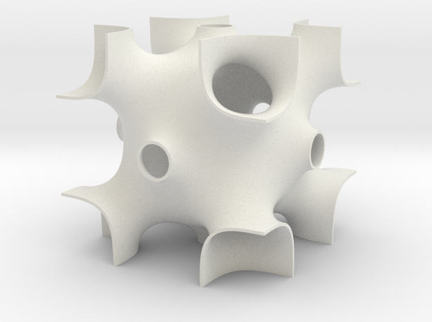 OCTO periodic minimal surface 3d printed