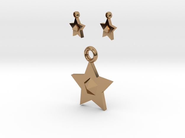 Star Pendant And Earrings 3d printed