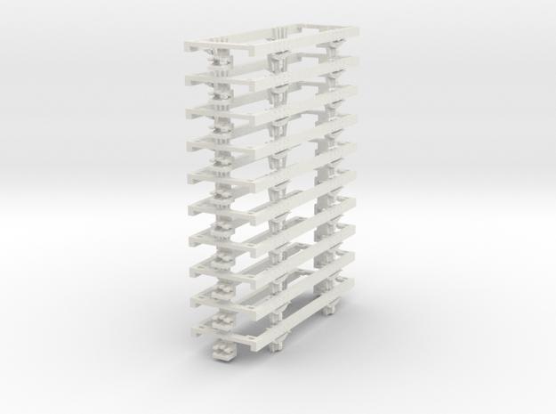 OO9 underframe (long) 10 pack 3d printed